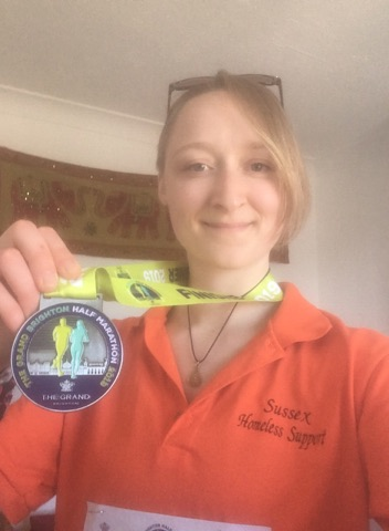 Amy Smith, SHS volunteer, runs Brighton Half Marathon